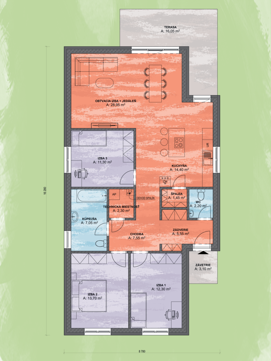 Angi 4 Design Podorys - ANGI 4 | Familyhouse