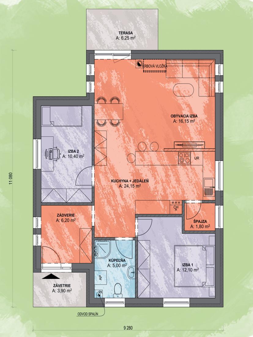 Bea 1 Design Podorys - BEA 1   Familyhouse