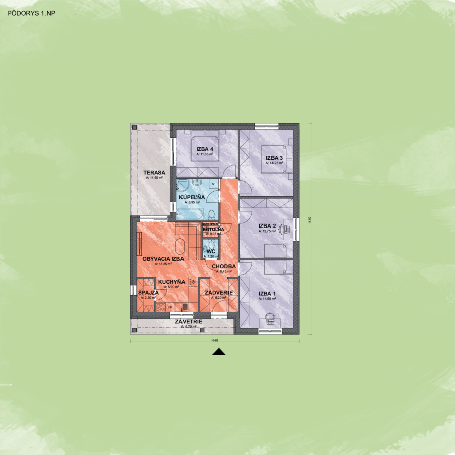 Bungalov Emily 3 design podorys - Bungalov EMILY 3 | Familyhouse