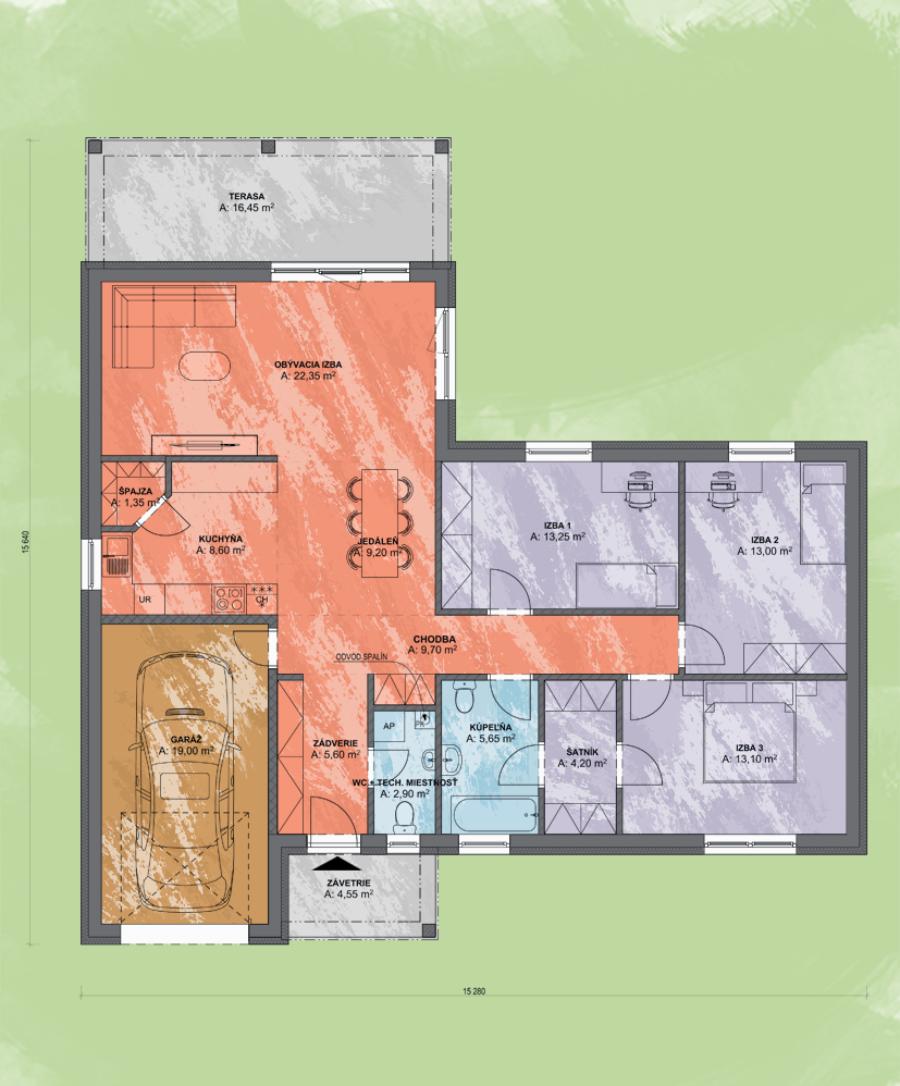 Bungalov Emma 3 Design Podorys - Bungalov EMMA 3 | Familyhouse