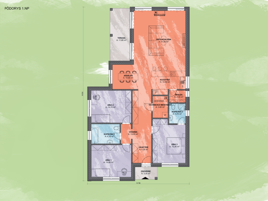 Bungalov Emma 6 Design Podorys - Bungalov EMMA 6 | Familyhouse