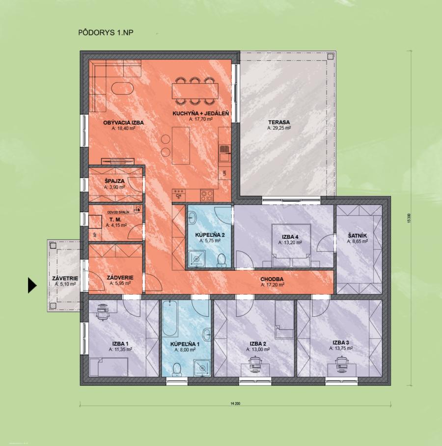 Bungalov Venus 4 Design Podorys - Bungalov VENUS 4 | Familyhouse