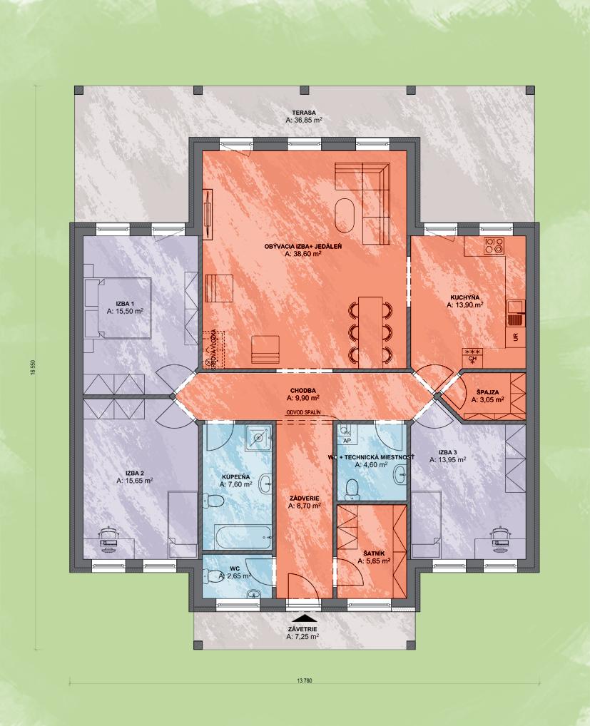 Emma 1 Design Podorys - EMMA 1 | Familyhouse