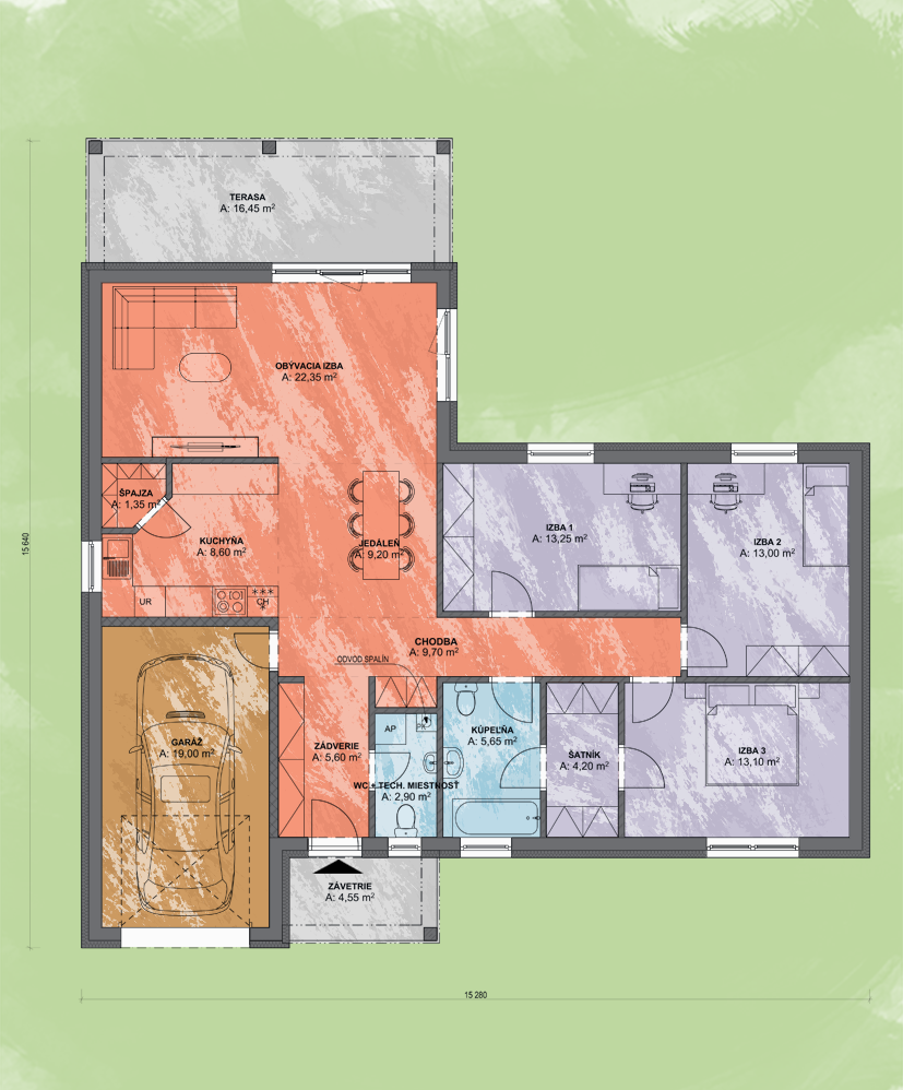 Emma 3 Design Podorys - EMMA 3   Familyhouse