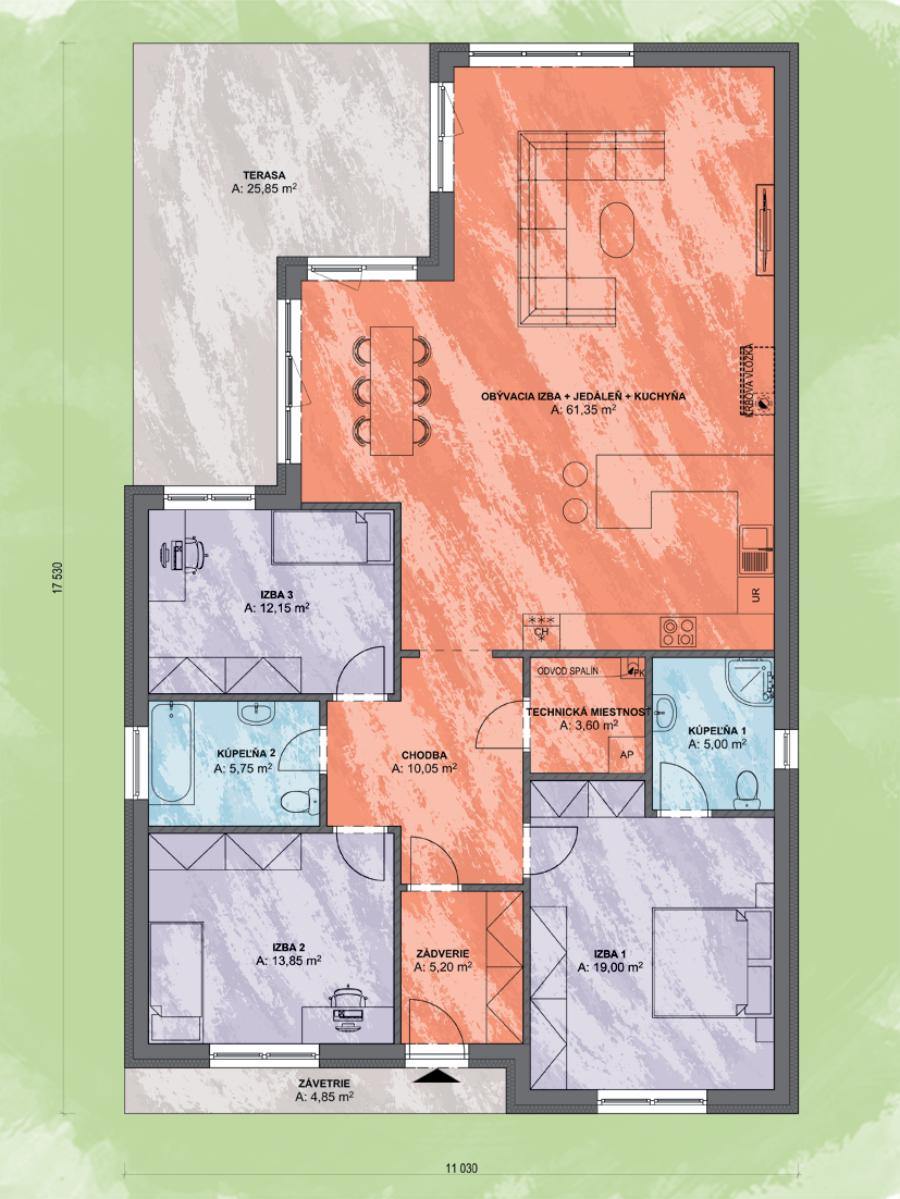 Emma 4 Design Podorys - EMMA 4 | Familyhouse