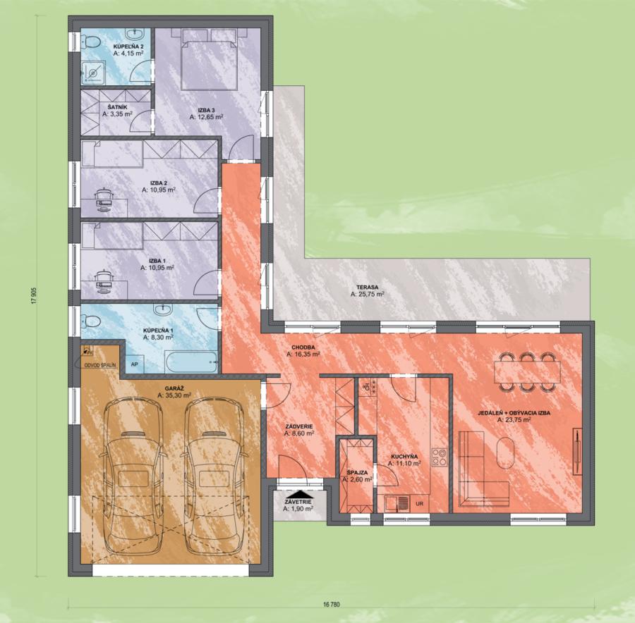 Emma 5 Design Podorys - EMMA 5 | Familyhouse