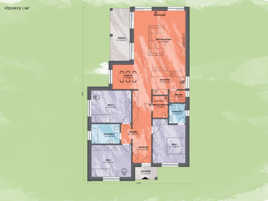 Emma 6 Design Podorys - EMMA 6 | Familyhouse
