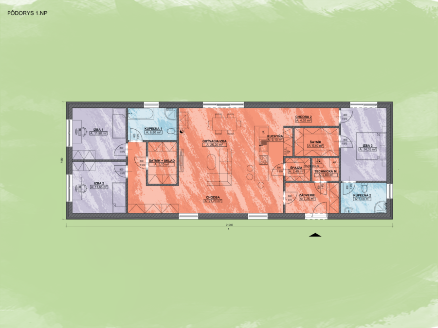Emma 7 Design Podorys - EMMA 7 | Familyhouse