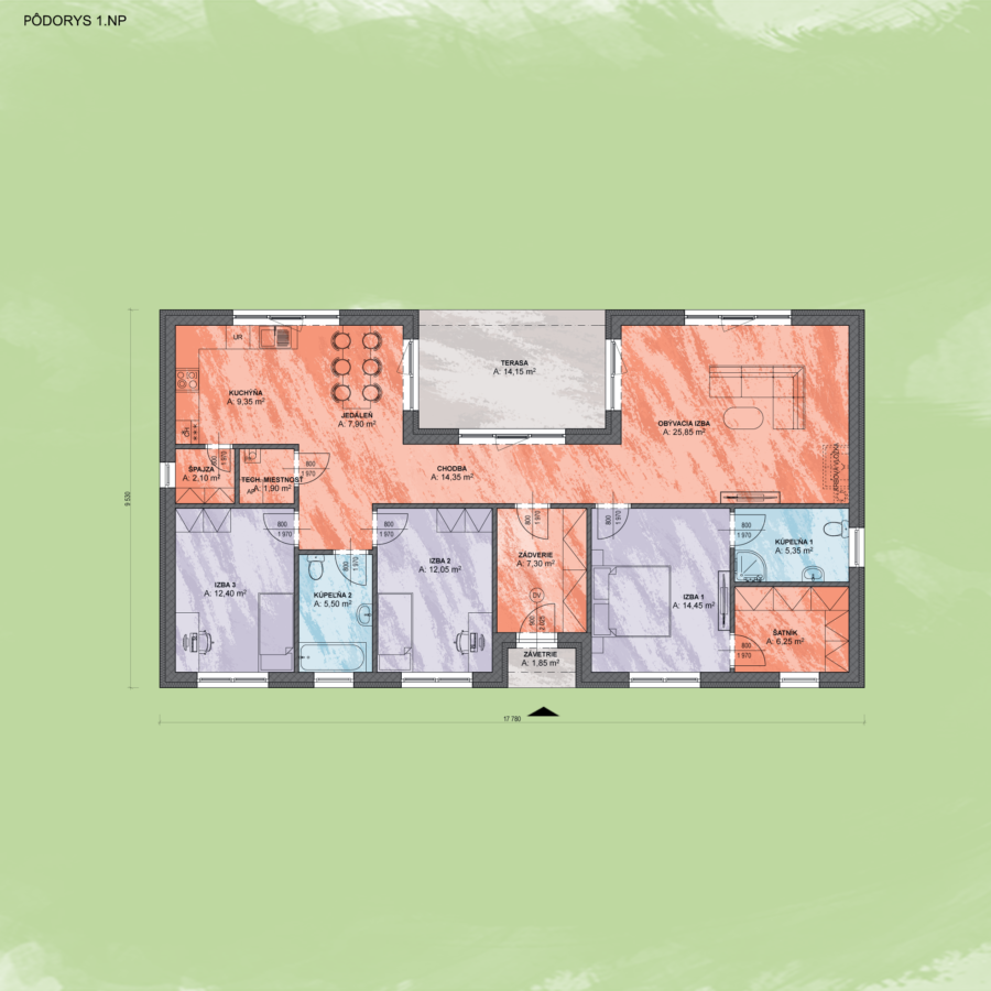 Emma 8 Design Podorys - EMMA 8 | Familyhouse