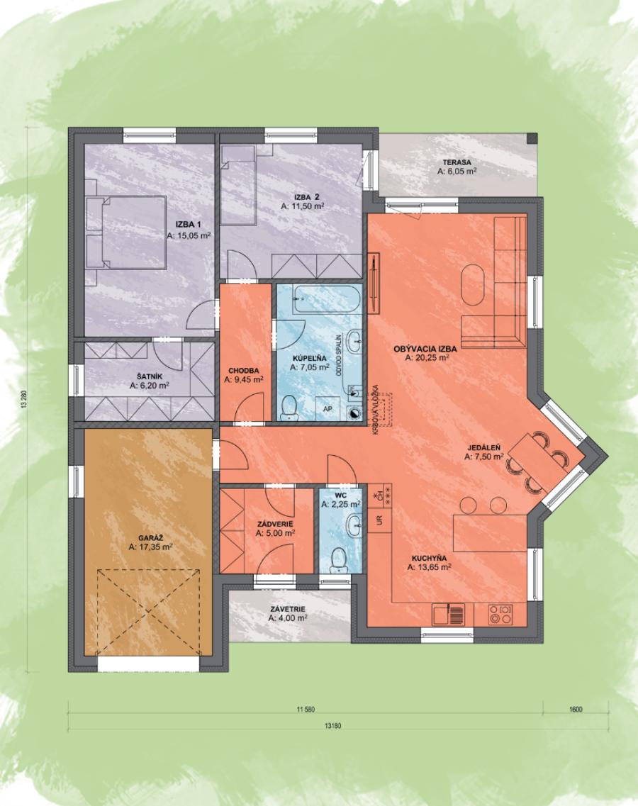 Eva 1 Design Podorys - EVA 1 | Familyhouse