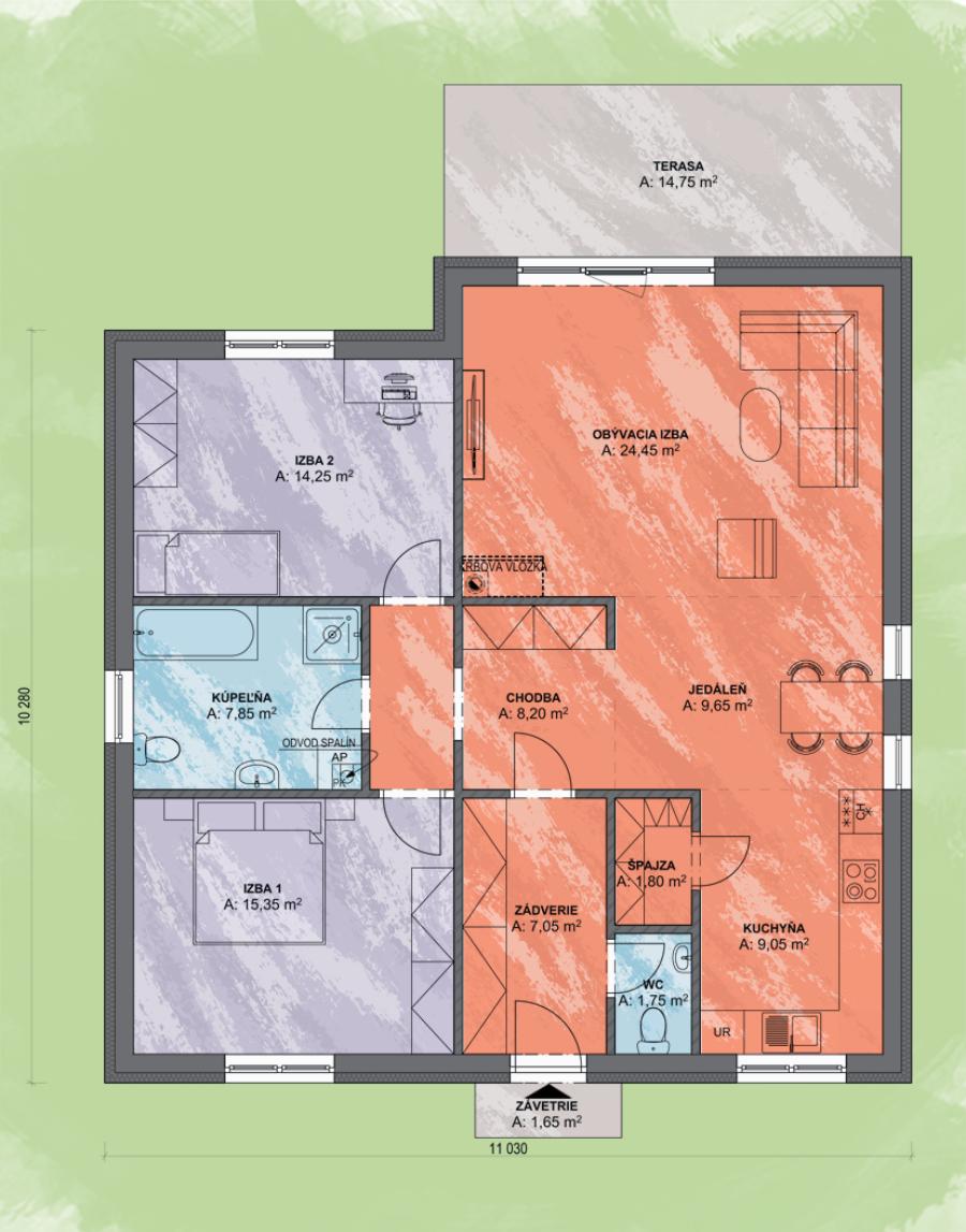 Eva 2 Design Podorys - EVA 2 | Familyhouse