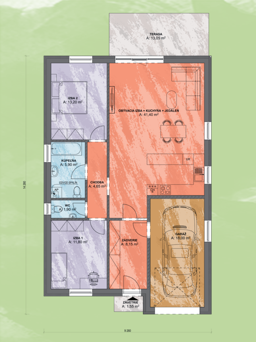 Eva 3 Design Podorys - EVA 3 | Familyhouse
