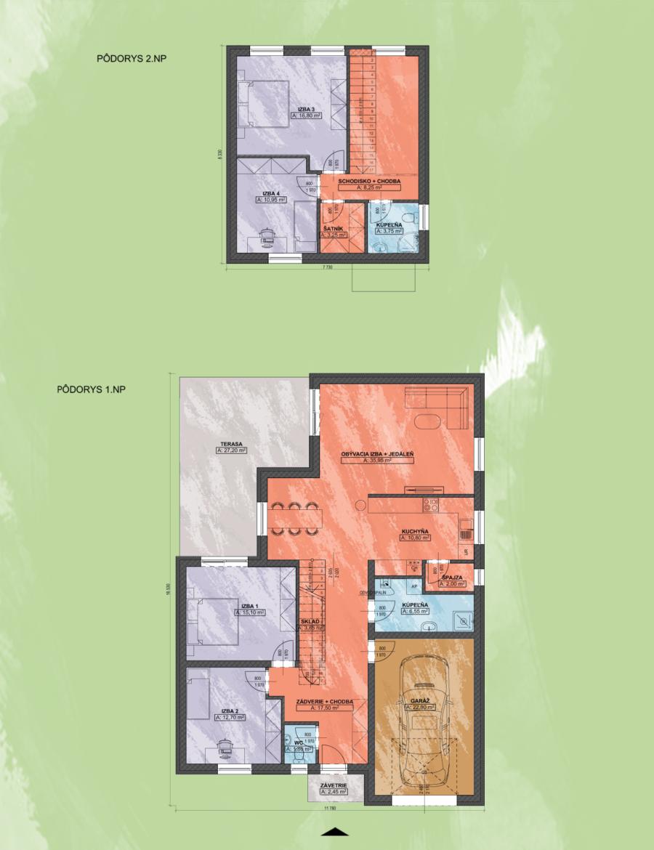 Livia 2 Design Podorys - LIVIA 2 | Familyhouse