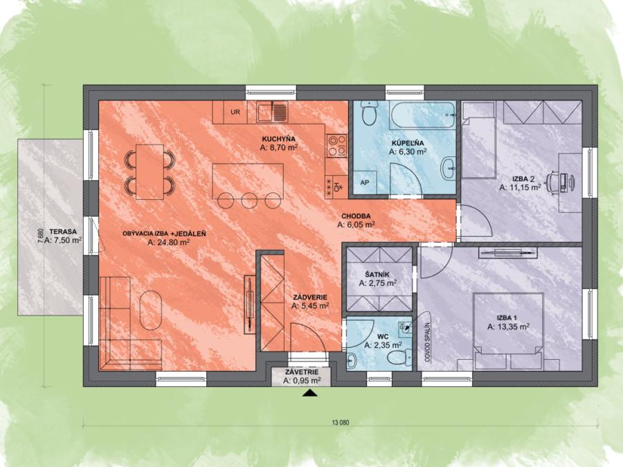 Lea 3 Design Podorys - LEA 3 | Familyhouse