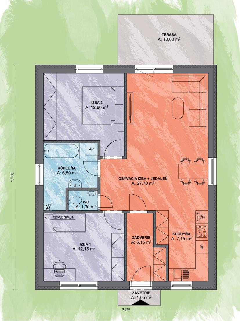 Lea 4 Design Podorys - LEA 4   Familyhouse