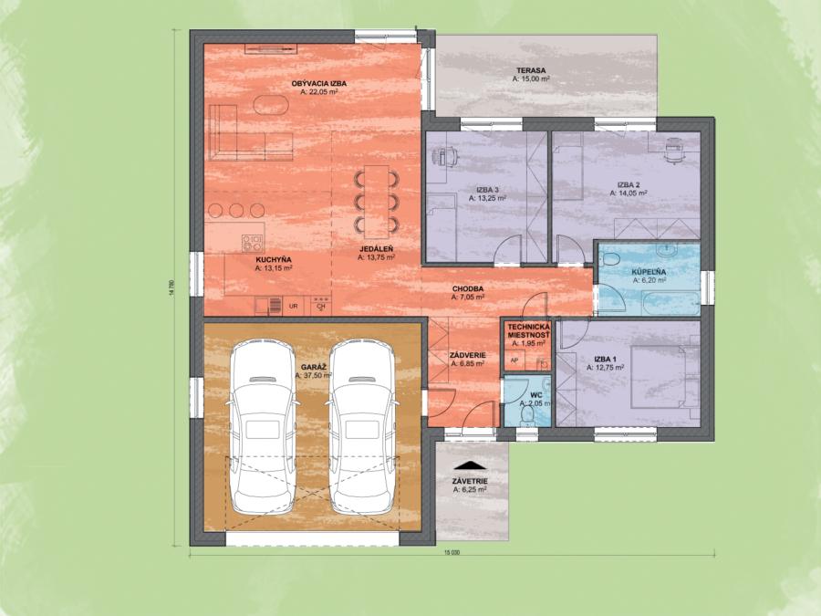 Lisa 7 Design Podorys - LISA 7 | Familyhouse