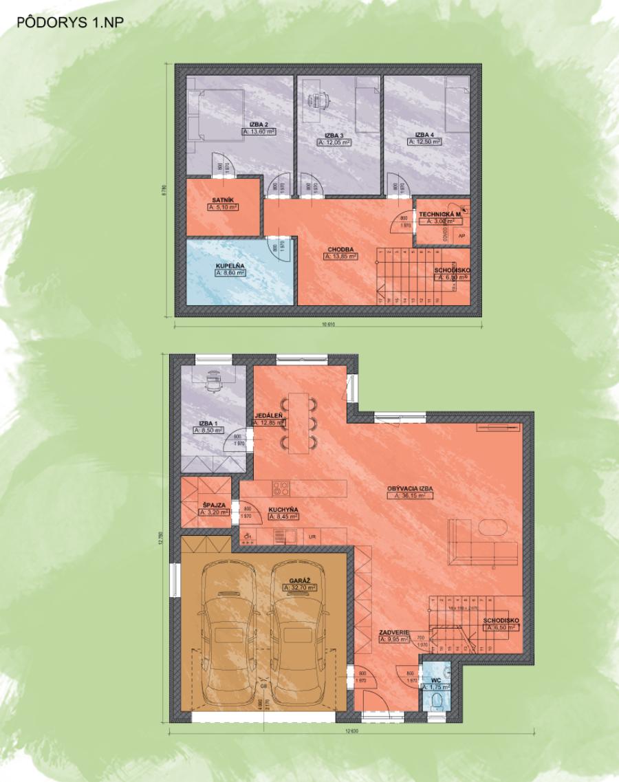 Livia 3 design podorys - LIVIA 3 | Familyhouse