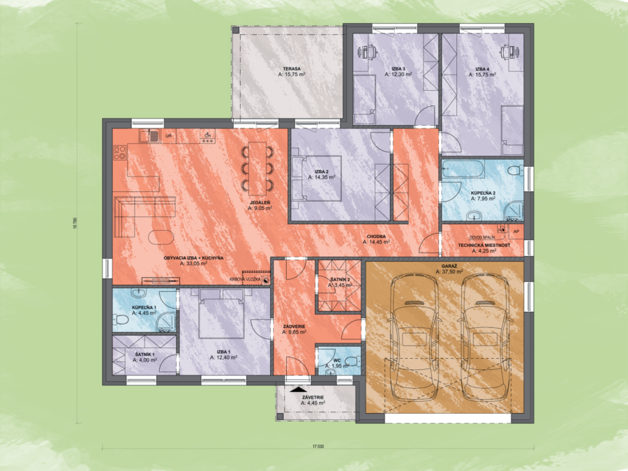 Nataly 2 Design Podorys - NATALY 2   Familyhouse