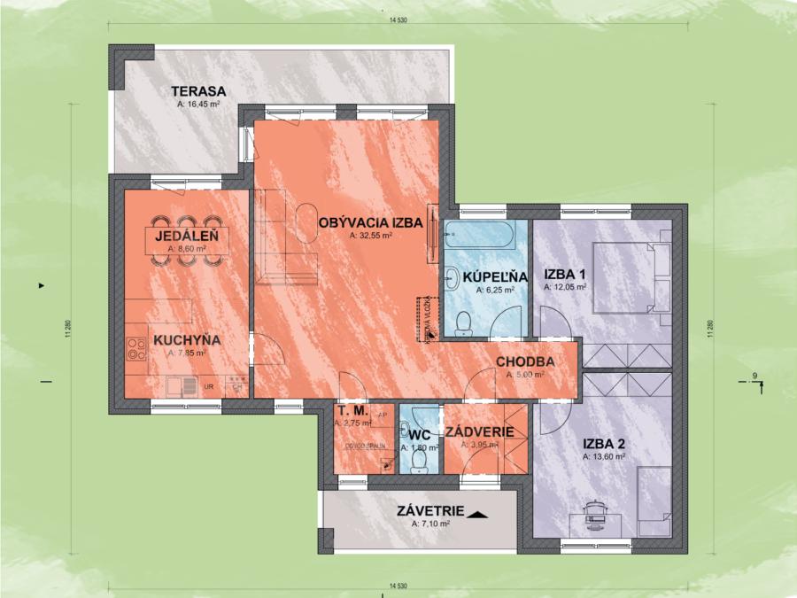 Nia 1 design podorys - NIA 1 | Familyhouse