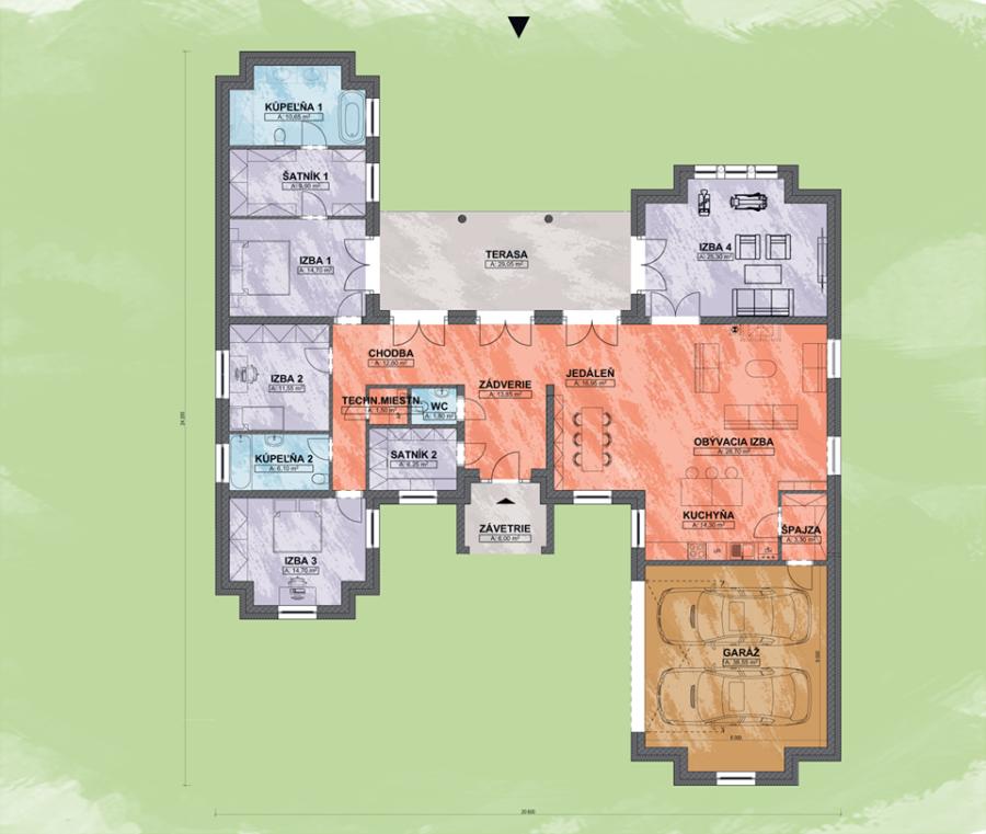 Luxusný rodinný dom Casa Castilia Design Podorys - Rodinný dom CASA CASTILIA | Familyhouse