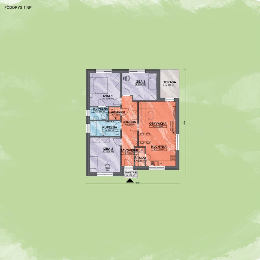 Simi 2 design podorys - SIMI 2 | Familyhouse
