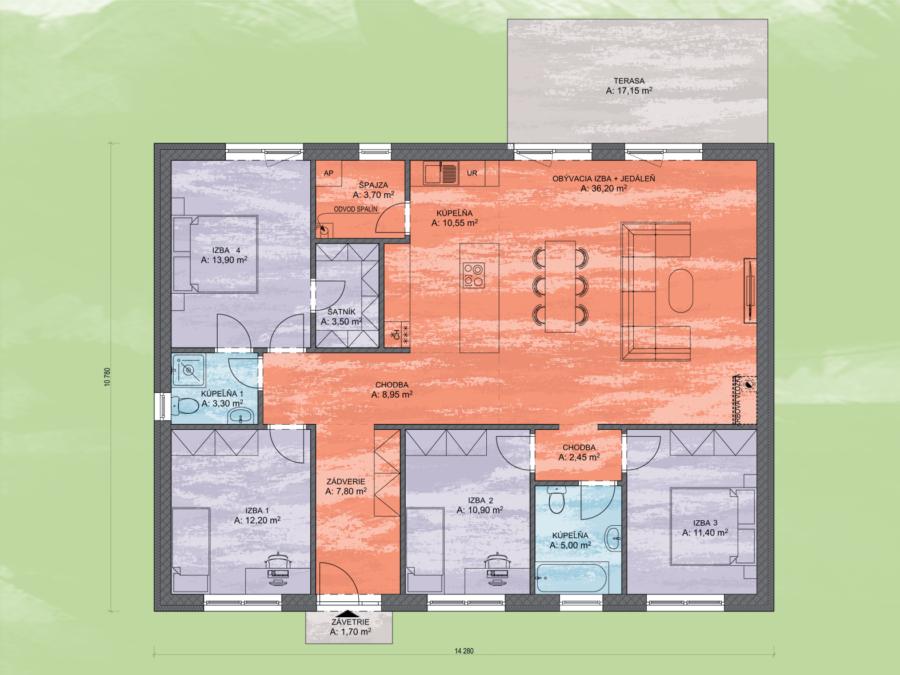 Venus 2 Design Podorys - VENUS 2 | Familyhouse