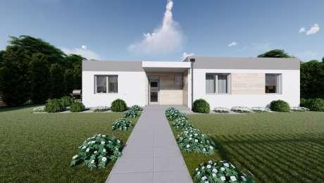 Projekt domu ANGI 1 vizualizácia vchodu - Bungalov ANGI 4 | Familyhouse