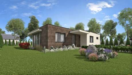 Projekt moderného domu ANGI 1 - Bungalov ANGI 4 | Familyhouse