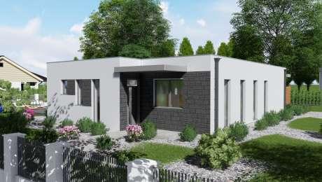 Projekt domu - moderný dom ANGI 2 vchod - Bungalov ANGI 4 | Familyhouse