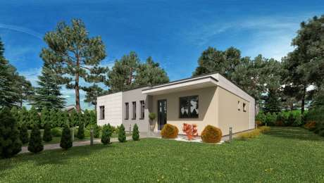 Projekt moderného domu ANGI 3 - vchod do domu - Bungalov ANGI 4 | Familyhouse