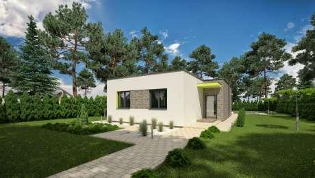 Moderný dom ANGI 4 vchod - Bungalov ANGI 5 | Familyhouse