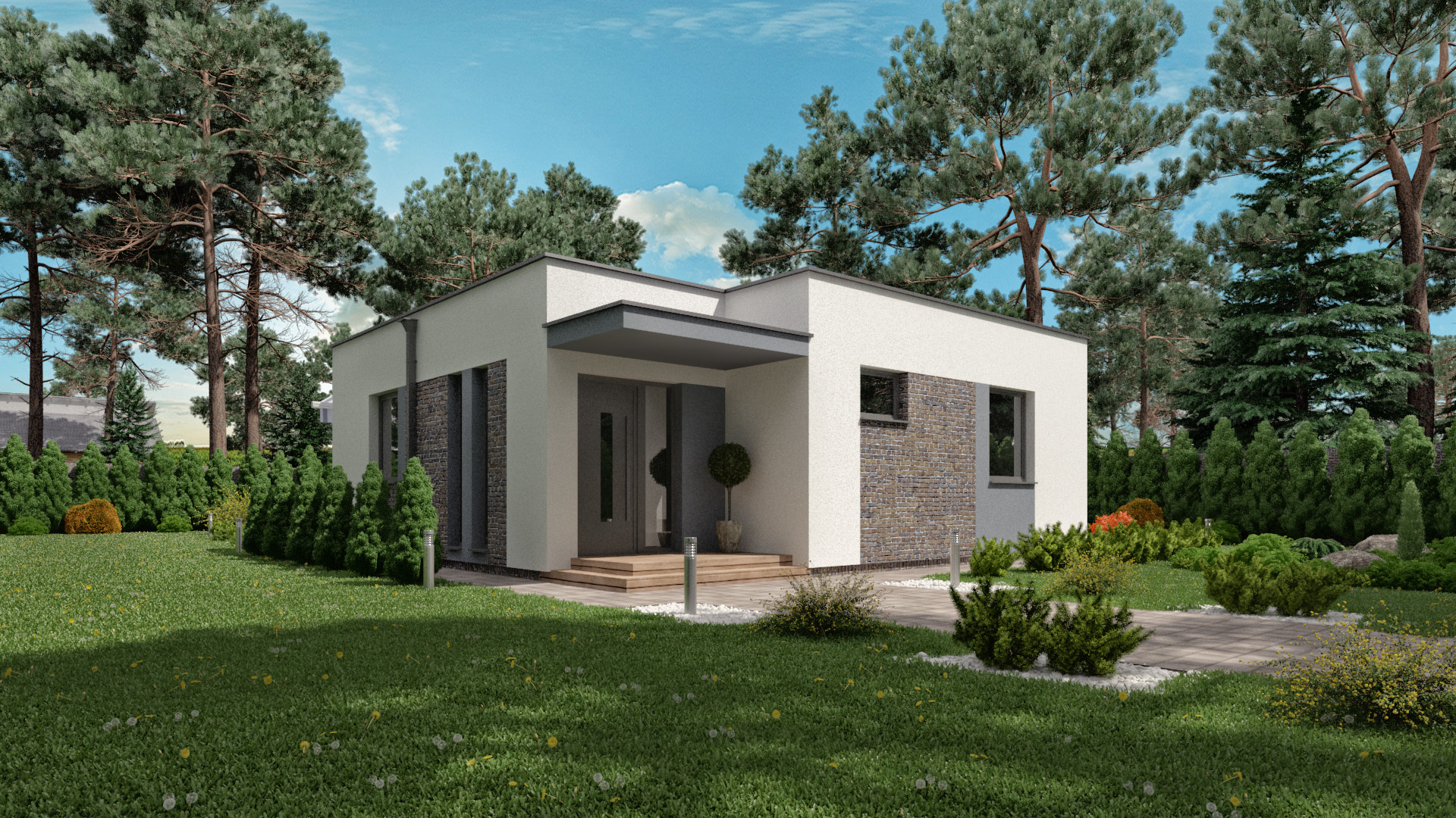 Moderný dom BEA 1 - projekt bungalovu