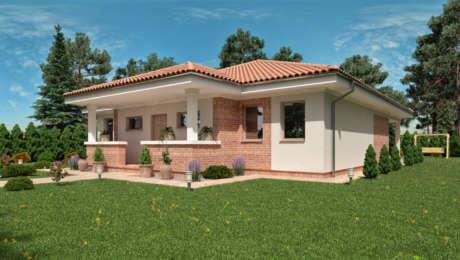 Projekt bungalovu s terasou EMMA 1 - Bungalov EMMA 7 | Familyhouse
