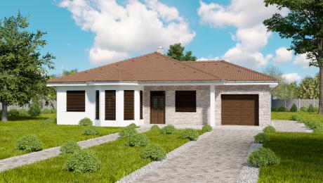 Projekt 4-izbového bungalovu s garážou EMMA11 - Bungalov EMMA 14 | Familyhouse
