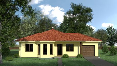 Projekt domu - vchod do bungalovu EMMA 11 - Bungalov EMMA 13 | Familyhouse
