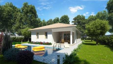 Projekt domu EMMA 12 - terasa a bazén bungalovu - Bungalov EMMA 13 | Familyhouse