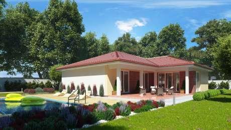 Projekt rodinného domu EMMA 13- terasa s bazénom - Bungalov EMMA 14 | Familyhouse