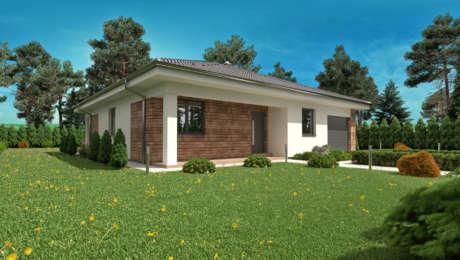 Projekt veľkého domu s terasou EMMA 2 - Bungalov EMMA 7 | Familyhouse