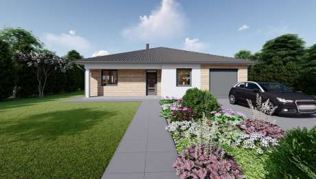 Projekt domu EMMA 2 vizualizácia vchodu - Bungalov EMMA 14 | Familyhouse