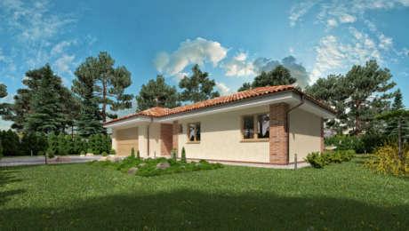 Projekt domu EMMA 5 - vchod do bungalovu - Bungalov EMMA 7 | Familyhouse