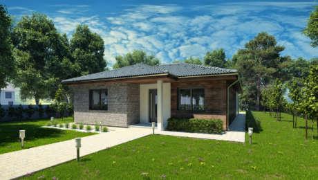 Projekt bungalovu EMMA 6 - vchod do domu - Bungalov EMMA 7 | Familyhouse
