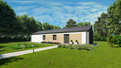 Moderný dom EMMA 7 - vchod do bungalovu - Bungalov EMMA 9 | Familyhouse