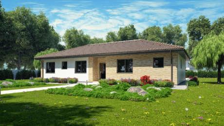 Projekt domu na úzky pozemok EMMA 8 - Bungalov EMMA 13 | Familyhouse