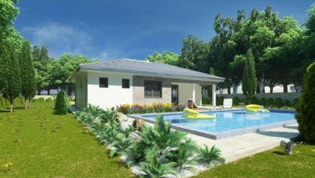 Projekt domu EMMA 1 s terasou - Bungalov EMMA 13 | Familyhouse