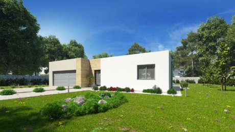 Projekt moderného domu ENOS 1 - Bungalov ENOS 3 | Familyhouse