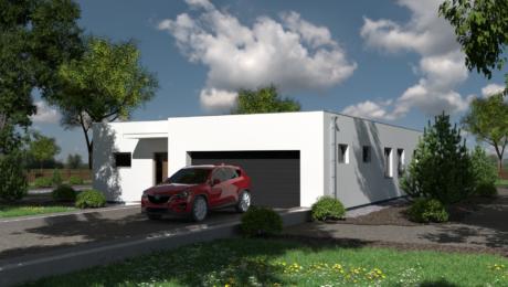 Moderný dom s garážou ENOS 2 - Bungalov ENOS 3 | Familyhouse