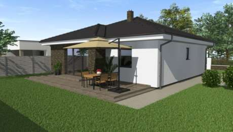 Projekt domu s terasou - bungalov EVA 2 - Bungalov EVA 4 | Familyhouse