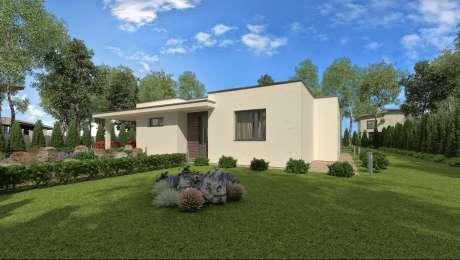 Projekt domu - bungalov LADY 1 vchod - Bungalov LADY 2 | Familyhouse