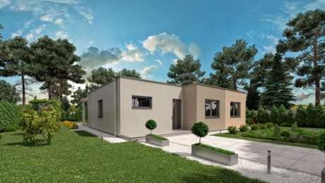 Projekt moderného domu LADY 4 - vchod - Bungalov LADY 2 | Familyhouse