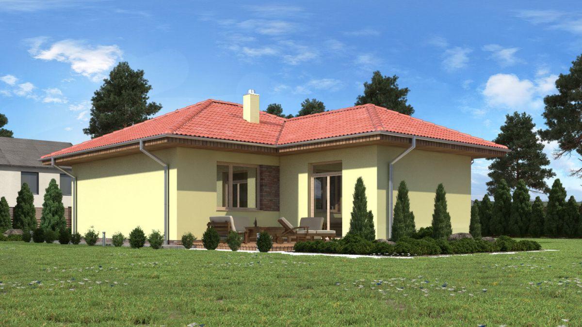Projekt malého bungalovu Lea 1 s terasou